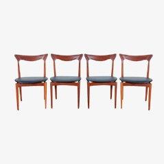 Teak Esszimmerstühle von Henry Walter Klein für Bramin, 4er Set