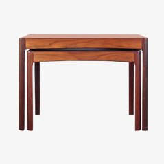 Mid Century Nesting Tables in Rosewood by Torbjørn Afdal for Bruksbo, Set of 2