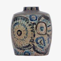 Grand Vase Baca en Email Stannifière par Nils Thorsson pour Royal Copenhagen, 1970s