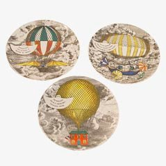 Ceramic Plates from Piero Fornasetti, 1955, Set of 3