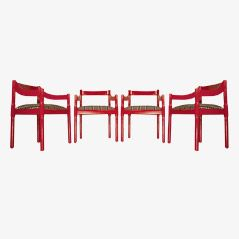 Carimate Armchairs by Vico Magistretti for Cassina, Set of 4