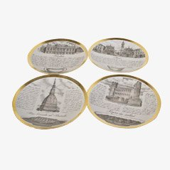 Ricette Piemontesi Plates by Piero Fornasetti, Set of 4