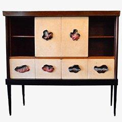 Mid-Century Rosewood & Boxwood Cabinet by Osvaldo Borsani, 1950