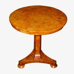 Tavolino in stile Regency in quercia smussata, inizio XIX secolo