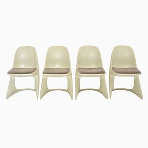 Casalino Plastic Chairs by Alexander Begge for Casala, Set of 4
