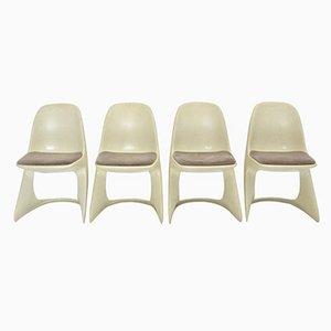 Casalino Stühle aus Kunststoff von Alexander Begge für Casala, 4er Set