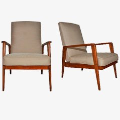 Armchairs by Etienne Henri Martin, Set of 2, 1939