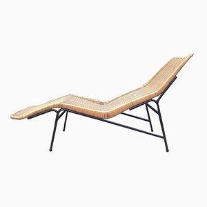 Chaise longue vintage in vimini di Dirk van Sliedregt per Rohé Noordwolde, 1961