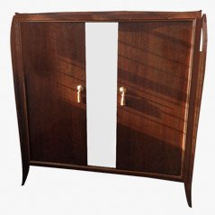 French Art Deco Walnut Armoire, 1930s