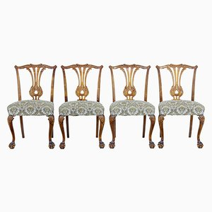 Mid-Century Chippendale Style Dining Chairs, Set of 4