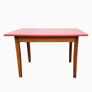 Roter Bistrotisch aus Resopal, 1950er