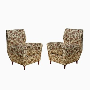 Mid-Century Italian Armchairs by Melchiorre Bega, 1950s, Set of 2