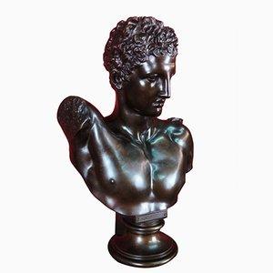 Bronze Büste des Hermes aus 19. Jahrhundert von Hermann Gladenbeck für Aktien-Gesellschaft Gladenbeck & Son