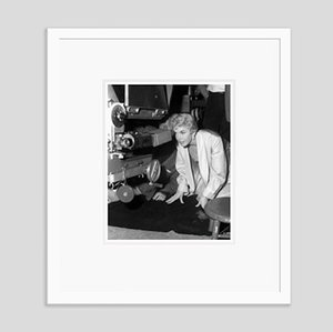 Doris Day Filming Love Me or Leave Me Archival Pigment Print Framed in White by Everett Collection