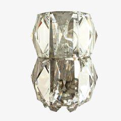 Wandleuchte aus Kristallglas von Rupert Nikoll, 1960er