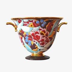 Vase Art Deco en Porcelaine de Boch