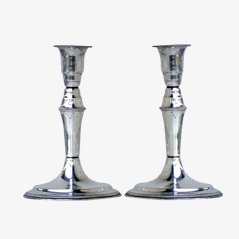 Scandinavian Silver Candlesticks, Set of 2