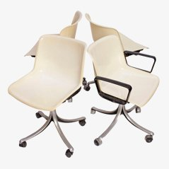 Modus Office Chairs by Osvaldo Borsani for Tecno, 1972.