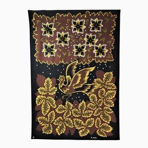 Bedrucktes Textil von Raymond Hurtu für Braun & Cie, 1950er