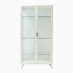 Vintage Showcase Cabinet with Lockable Door