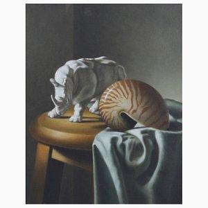 Antonio Nunziante, Allegorie Öl auf Leinwand