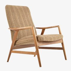 Mid Century Lounge Chair by Alf Svensson for Fritz Hansen, 1960s