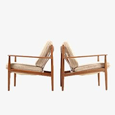 Model 118 Easy Chairs by Grete Jalk for France & Son, 1962, Set of 2