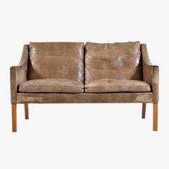 Canapé 2208 en Cuir par Børge Mogensen pour Fredericia Furniture, 1970s