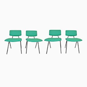 Chaises Compas par Pierre Guariche for Minvielle, 1962, Set de 4