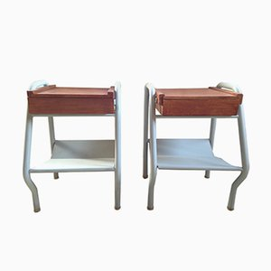 Mid-Century Nightstands by Jacques Hitier for Tubauto, Set of 2