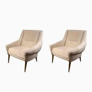 Mid-Century Armchairs by Charles Ramos, 1950s, Set of 2