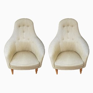 Swedish Lilla Eva Armchairs by Kerstin Hörlin Holmquist for Triva Nyköping, 1950s, Set of 2