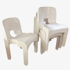 Chairs by Joe Colombo for Kartell, 1987, Set of 6