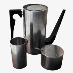 Cylinda Line Mokka Kaffeeservice von Arne Jacobsen für Stelton