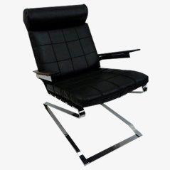 Vintage Danish Leatherette Lounge Chair