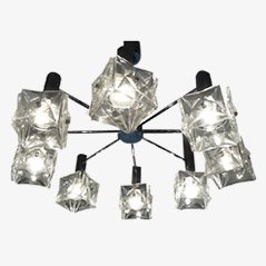 Mid Century Crystal Chandelier from Kinkeldey, 1970s