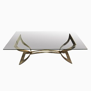 Mid-Century Italian Coffee Table, 1980s
