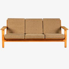 Model GE 290 Three-Seater Sofa by Hans J. Wegner for Getama
