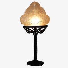 Lámpara de mesa francesa modernista, años 20
