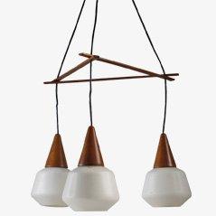 Lámpara colgante nórdica de Östen Kristiansson, Denmark, 1955