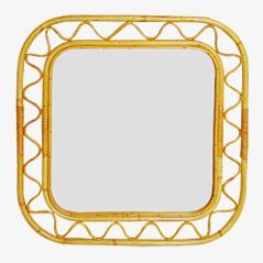 Rattan Frame Mirror by Josef Frank for Swedish Tenn, 1950s
