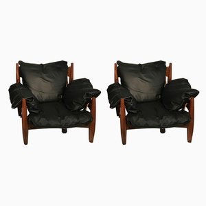 Lounge Chairs by Sergio Rodriguez, 1970s, Set of 2