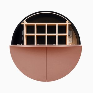 Black & Pink Multifunctional Pill Cabinet by Dalius Razauskas for Emko