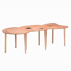 Tavolo pieghevole Liane da interno e da esterno di Kathrin Charlotte Bohr per Jacobsroom