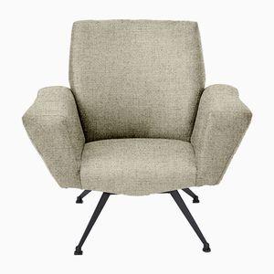 Personalisierbarer italienischer Modell 548 Sessel von Lenzi, 1960er in Sandfarbe