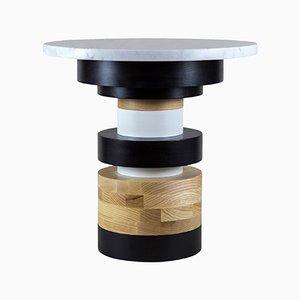 Tavolino Sass basso con ripiano in marmo di MPGMB per Souda