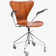 3217 Bürostuhl von Arne Jacobsen für Fritz Hansen