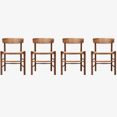Shaker Dining Chairs by Børge Mogensen, Set of 4