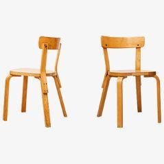 Modell 69 Stühle von Alvar Aalto für Artek, 3er Set