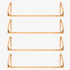 Model 112b Wall Shelves by Alvar Aalto for Artek, Set of 4